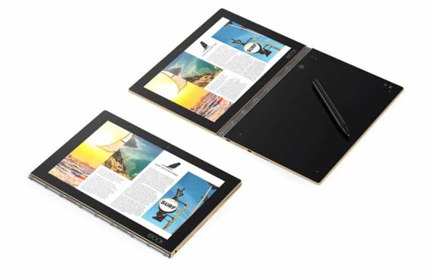 Lenovo mostra tablet capaz de digitalizar textos escritos com caneta
