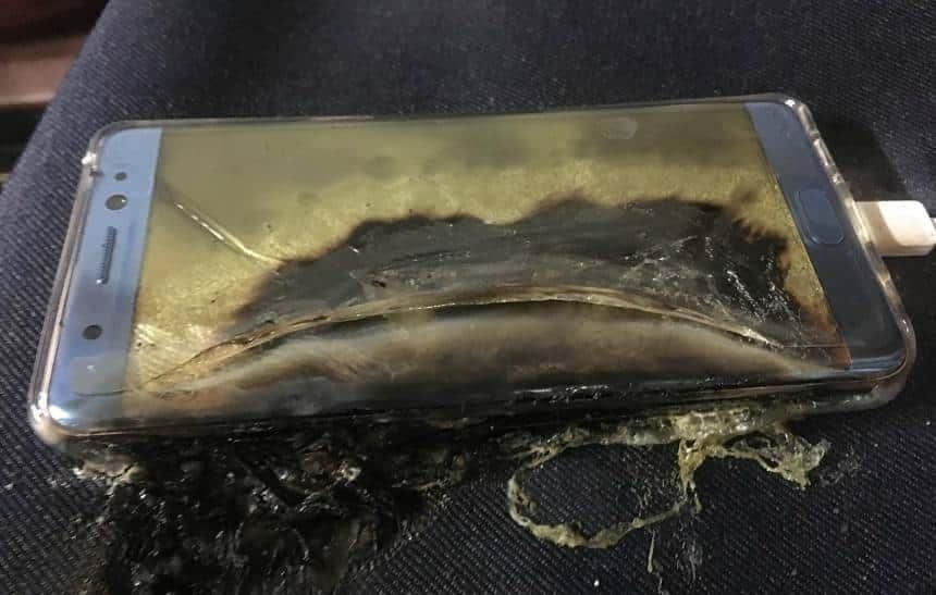 Setor de celulares da Samsung perdeu 97,68% de seus lucros por causa do Note 7