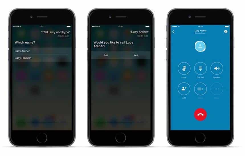 Agora d� para fazer chamadas pelo Skype no iPhone usando a Siri