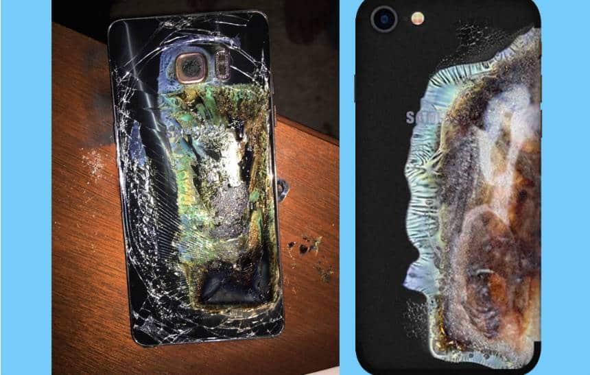 Capinha transforma iPhone em 'Galaxy Note 7 explodido'