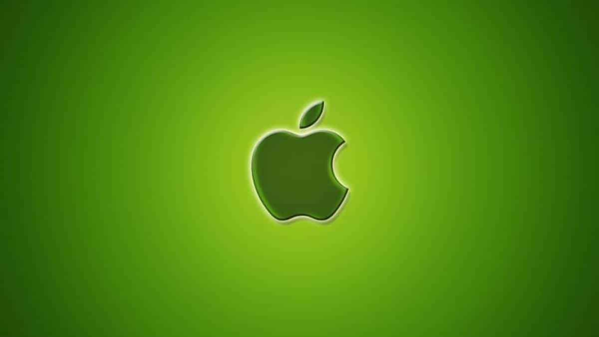 Apple logo verde