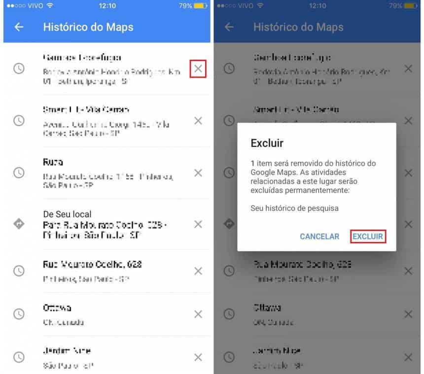 histórico localização celular google
