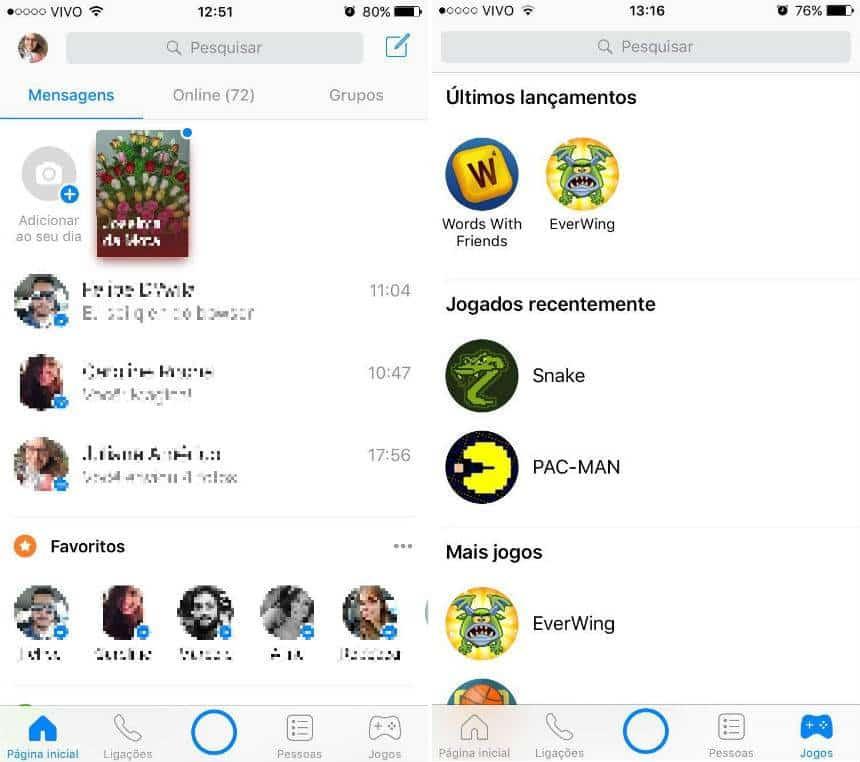 Veja como acessar os novos jogos do Messenger