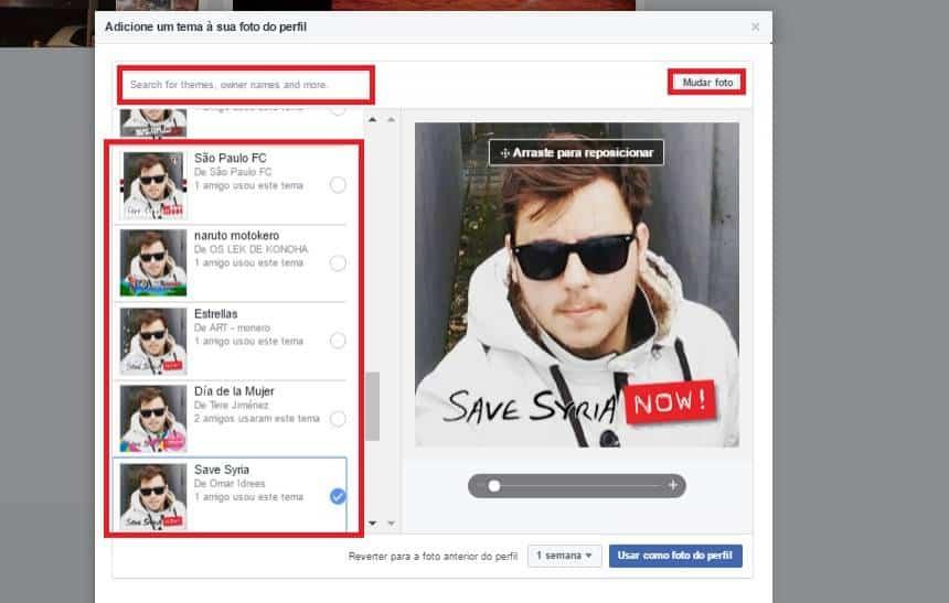 Como Adicionar Temas Na Sua Foto De Perfil Do Facebook