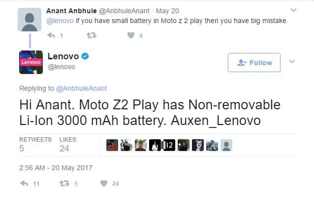 Lenovo apressa-se a dizer que o Moto Z2 vai ter 3000mAh