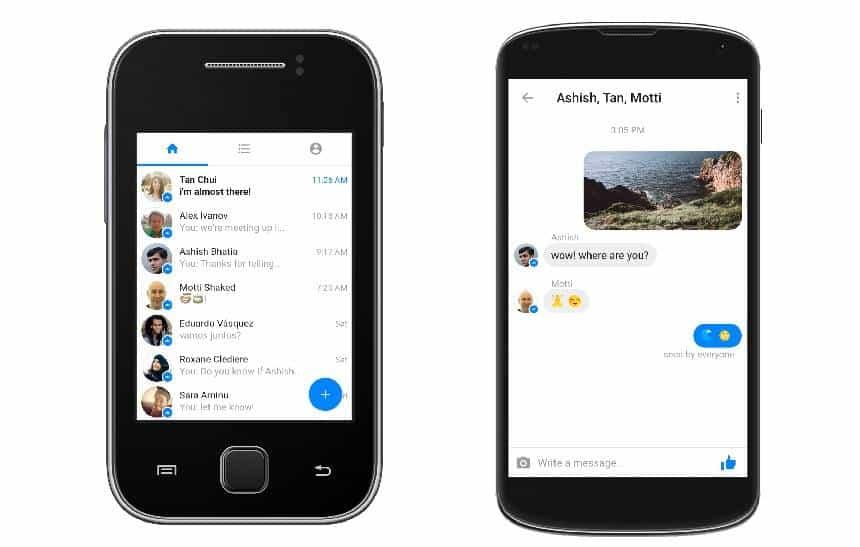 Facebook lança aplicativo de mensagens Messenger Lite no Brasil