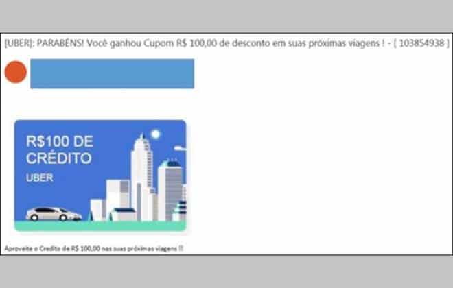 Resultado de imagem para Golpe oferece cupom falso de desconto do Uber para roubar dados de usuários