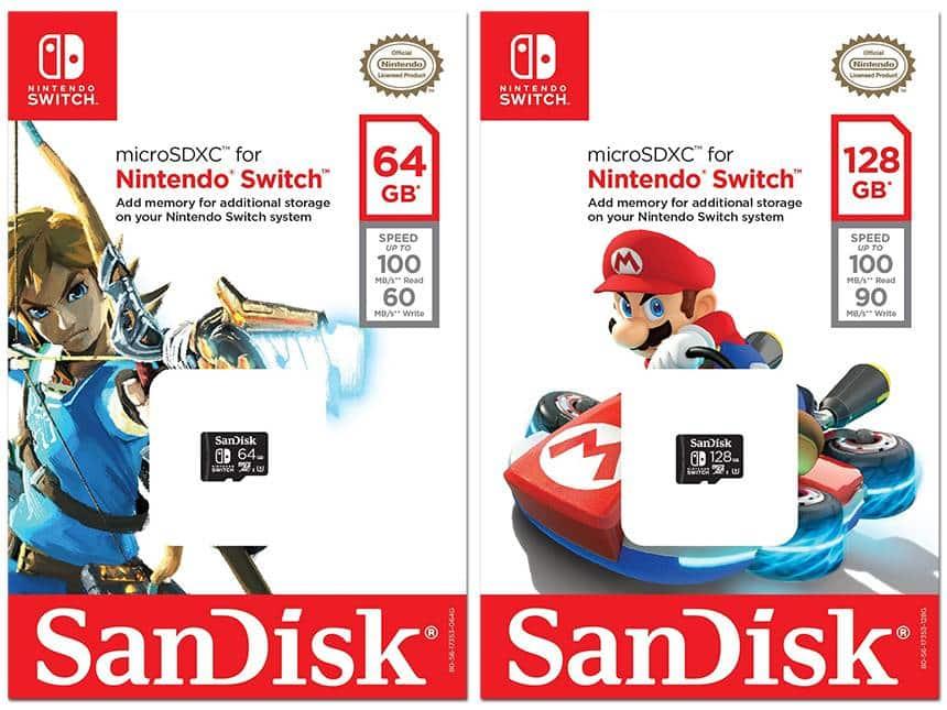 Alguns jogos físicos da Switch podem exigir cartão MicroSD