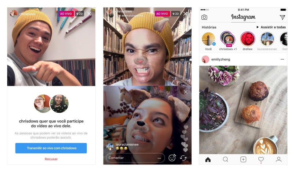 Instagram agora permite transmissão em tempo real com dois usuários
