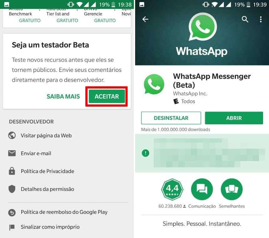 Actualização do WhatsApp deixa-te