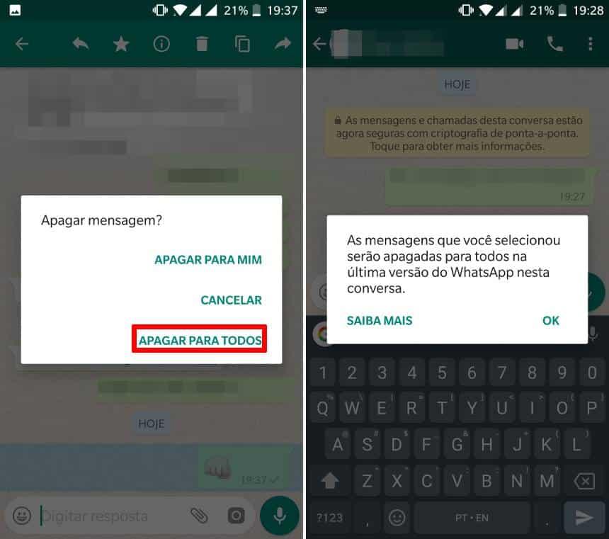 como apagar mensagem do whatsapp no iphone