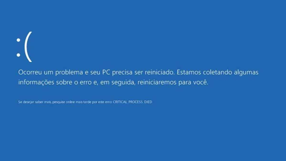 tela azul da morte, bsod, blue screen of death