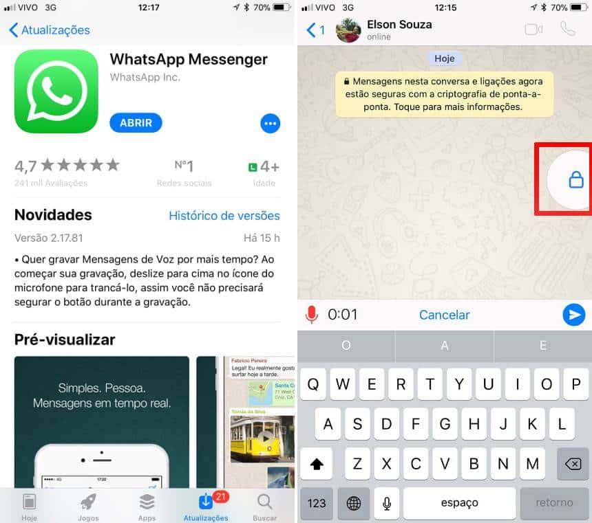 NOVIDADE: WhatsApp libera novo jeito de gravar áudio; veja
