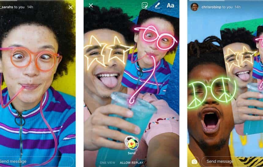 Instagram permite rabiscar histórias de amigos e copia Snapchat outra vez