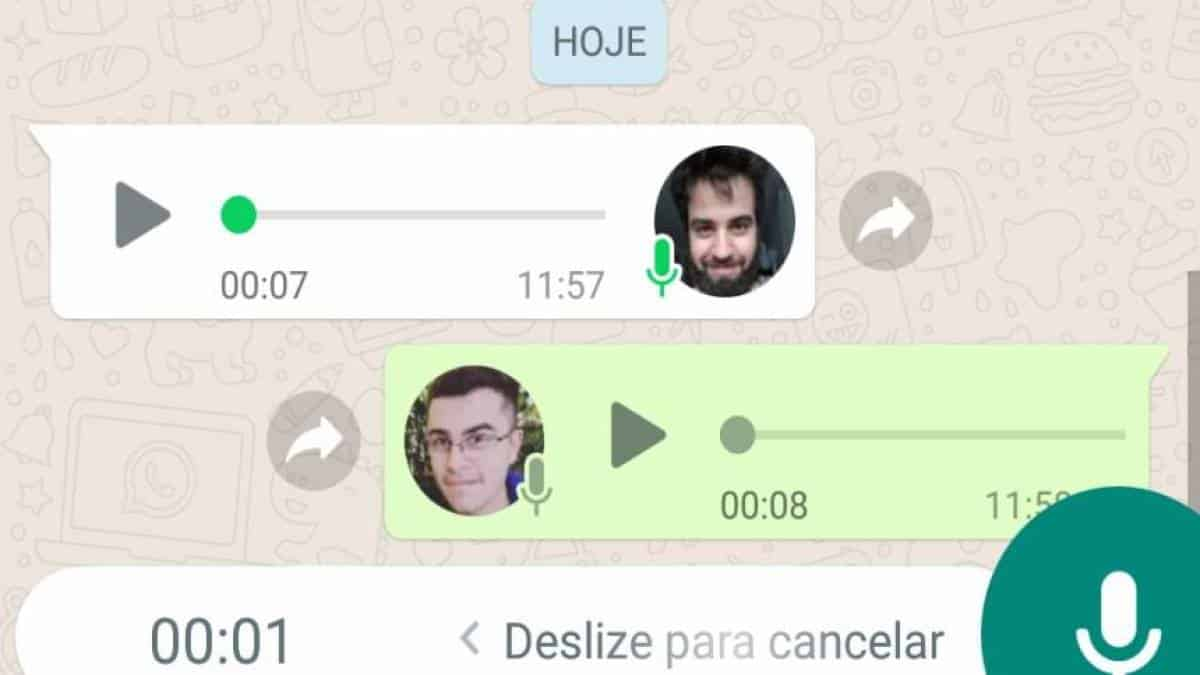 WhatsApp áudio