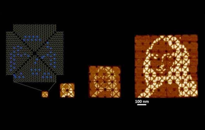 Cientistas criam menor 'Mona Lisa' do mundo por meio de dobraduras com DNA