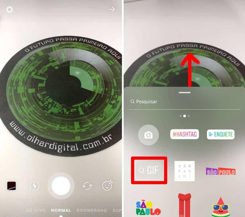 Instagram Stories adiciona GIFs e fotos de qualquer tamanho