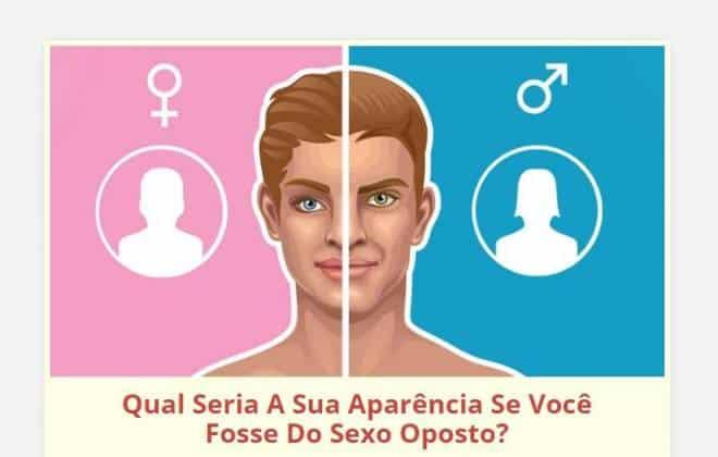 Por que não fazer o teste que mostra sua aparência como gênero oposto