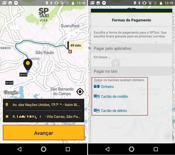 Prefeitura de São Paulo lança aplicativo de transporte SPTaxi
