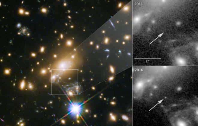 Well-known Telescópio Hubble fotografa estrela mais distante já vista a  EZ14