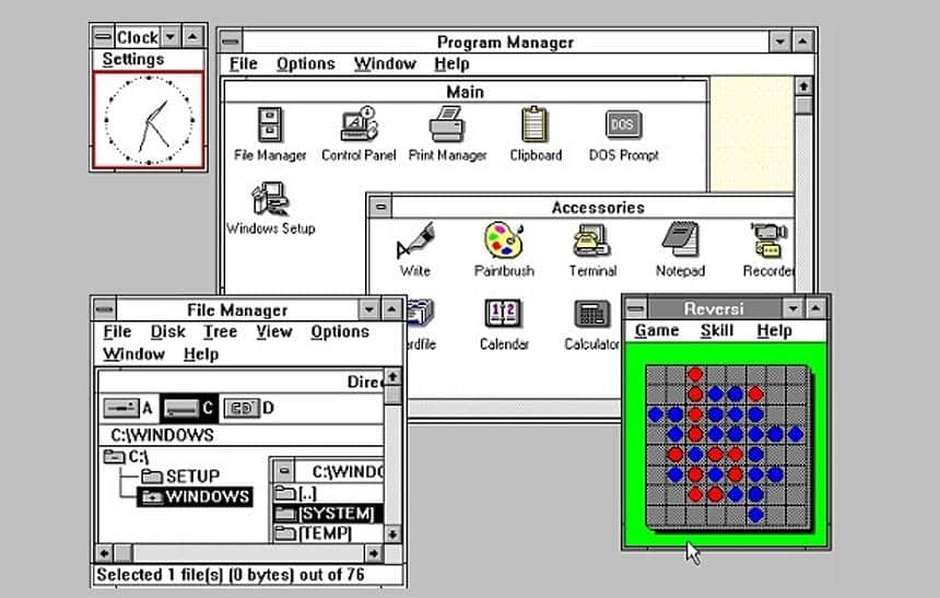 Microsoft libera código do gerenciador de arquivos do Windows 3.0