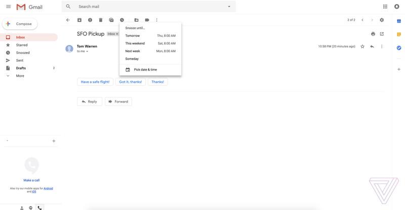 Reveladas imagens do novo design do Gmail