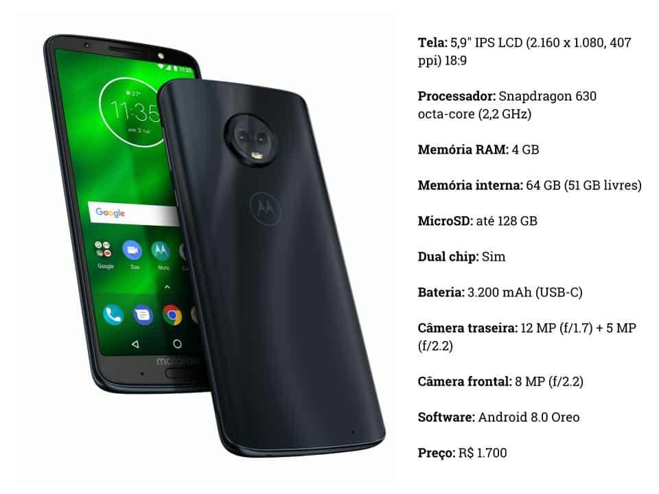 8d11988521 A pergunta que não quer calar é  o Moto G6 Plus é bom  Passamos alguns dias  com o celular para testes e contamos
