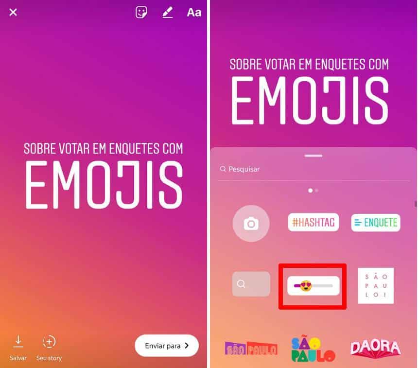 Instagram ganha ferramenta de enquete em forma de emoji deslizante