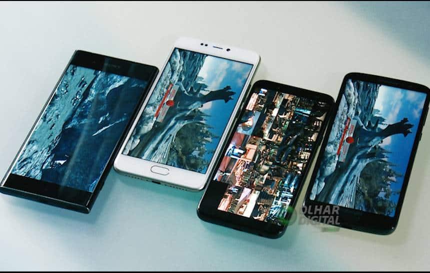 Smartphones de Samsung e Motorola continuam como os mais buscados em outubro