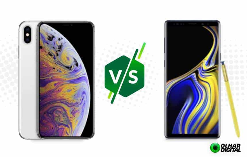 iPhone XS Max vs Galaxy Note 9: compare os tops de linha da Apple e Samsung