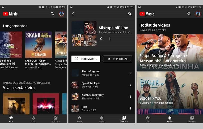 YouTube Music e Premium chegam ao Brasil no lugar do YouTube Red