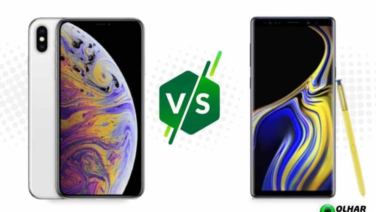 iPhone XS Max vs Galaxy Note 9  compare os tops de linha da Apple e Samsung 4f620ef1d1f