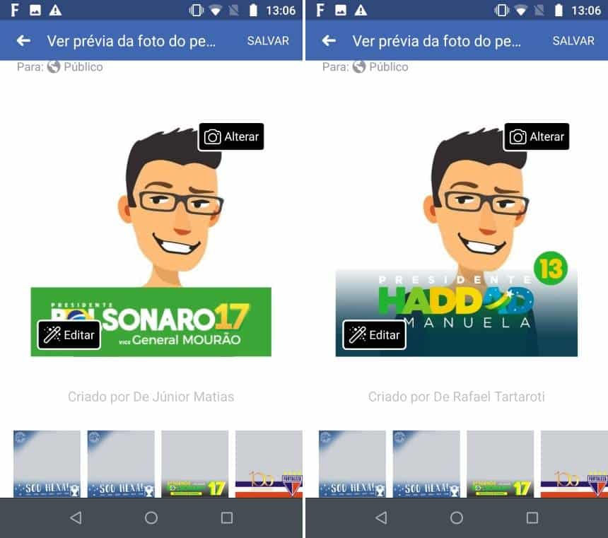 Como deixar a sua foto do Facebook e WhatsApp com o tema do Bolsonaro ou Haddad - Winew
