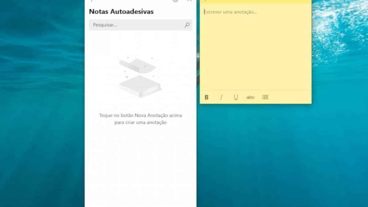 Nota autoadesiva Windows 10