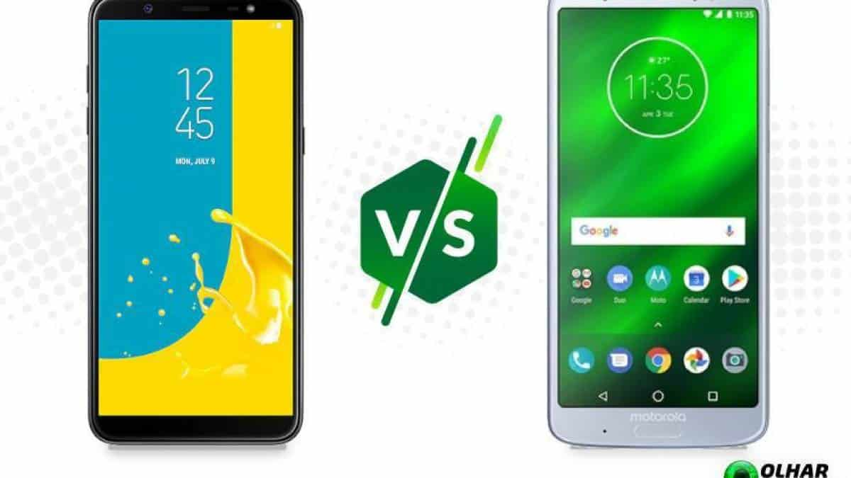 01d87ba0f Galaxy J8 ou Moto G6 Plus  compare os telefones mais buscados da Black  Friday