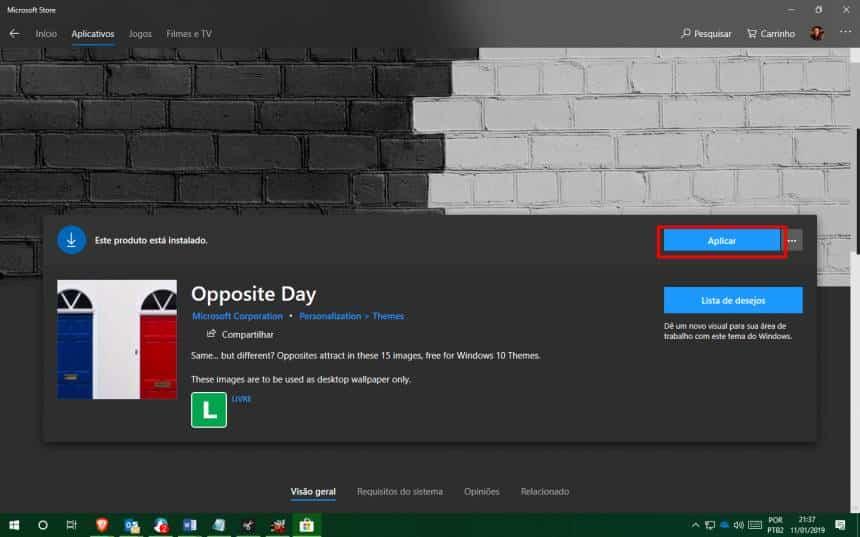 Reprodução  - 20190111214737 - Windows 10 ganha pacotes de papéis de paredes gratuitos; veja como baixar