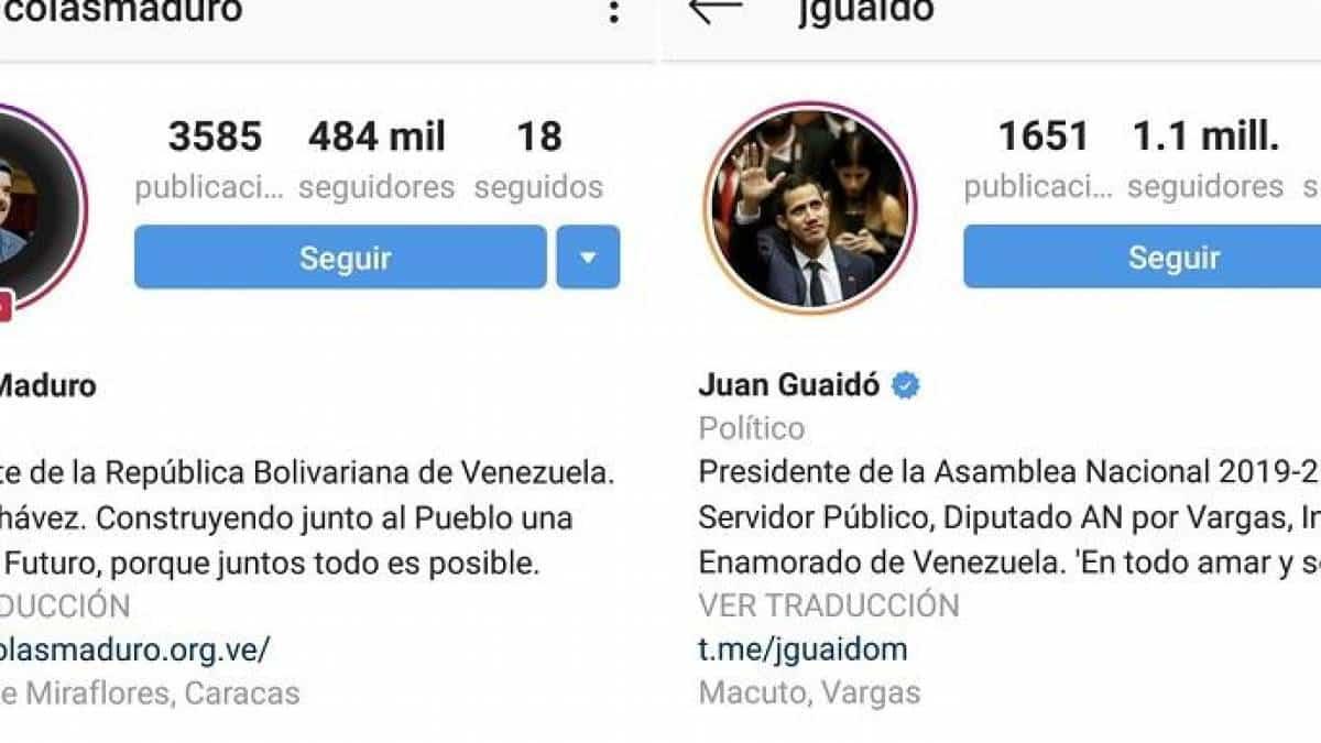 09d49f30d8c6f Perfil de Nicolás Maduro no Instagram nunca teve o selo de verificado