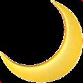 Emoji da lua crescente