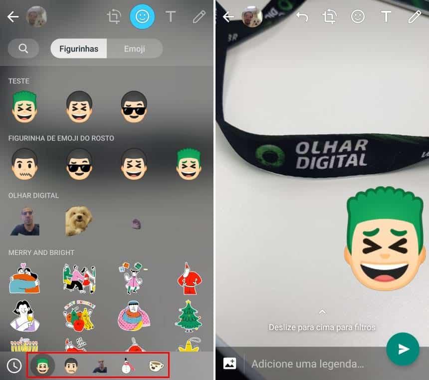 Reprodução  - 20190426163137 - Como 'colar' figurinhas em fotos ou imagens enviadas no Status do WhatsApp