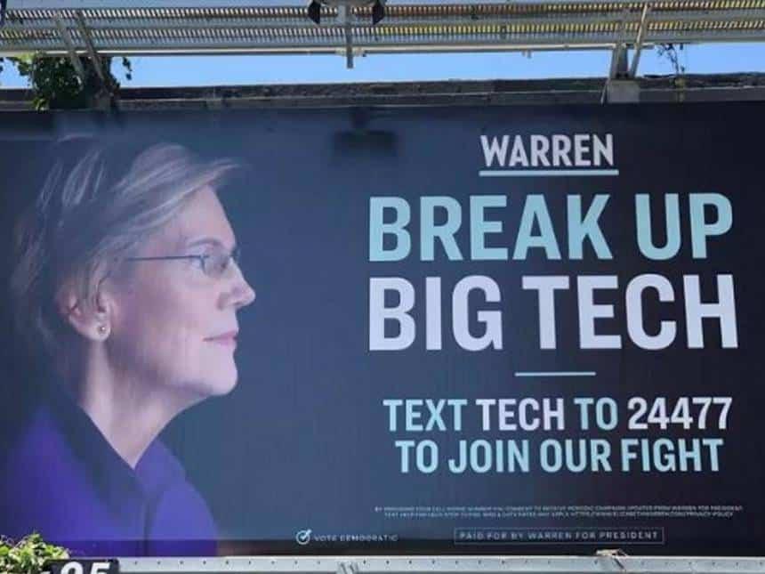 20190530101346_860_645 Senadora do EUA coloca outdoor contra domínio de empresas tecnológicas