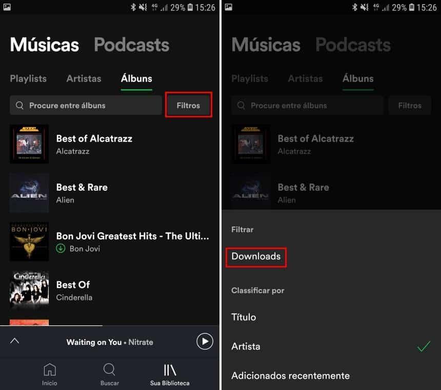 Reprodução  - 20190621161804 - Como usar o filtro do Spotify que lista as músicas salvas no celular