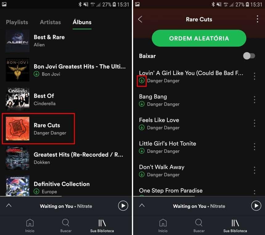 Reprodução  - 20190621161828 - Como usar o filtro do Spotify que lista as músicas salvas no celular