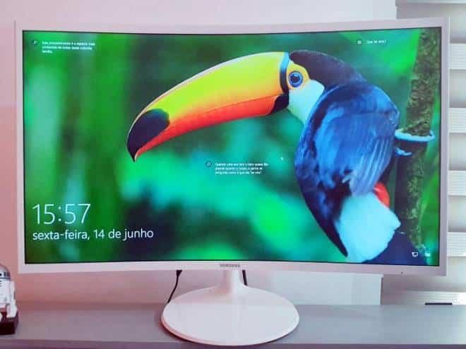 Review Samsung C32F391: monitor de 32 polegadas ótimo para escritórios