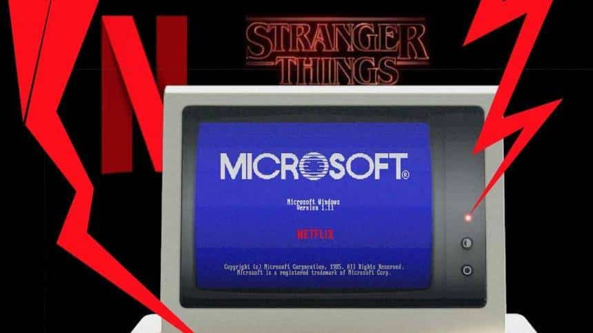 Stranger Things e Microsoft