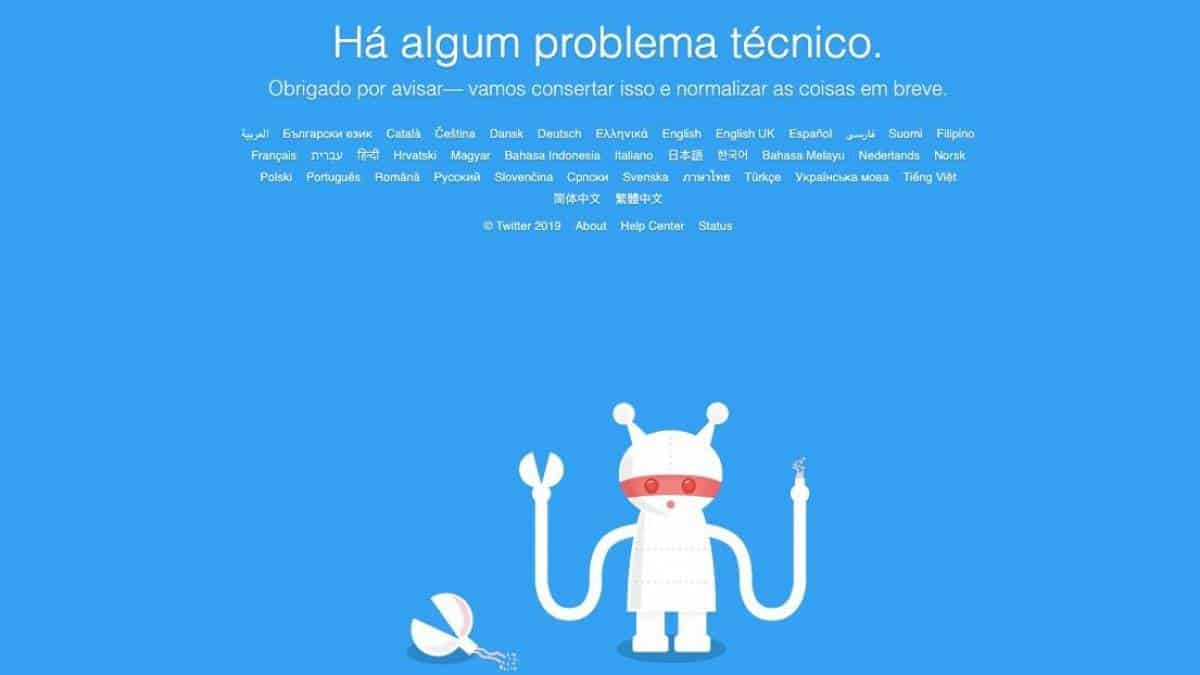 Twitter fora do Ar