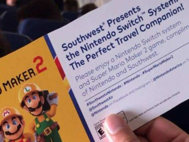 Passageiros de voo ganham Nintendo Switch e Super Mario Maker 2