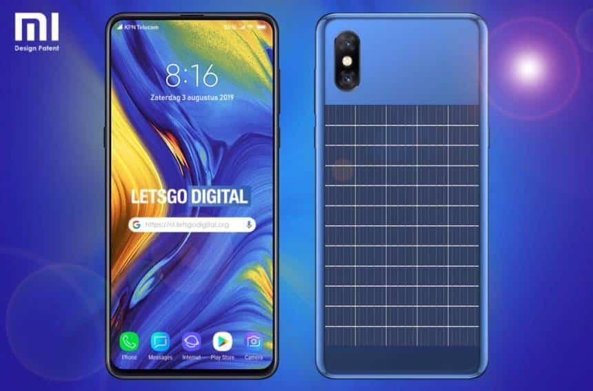 Xiaomi mostra celular com painel solar em nova patente 2