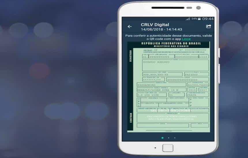 CRLV digital/Reprodução