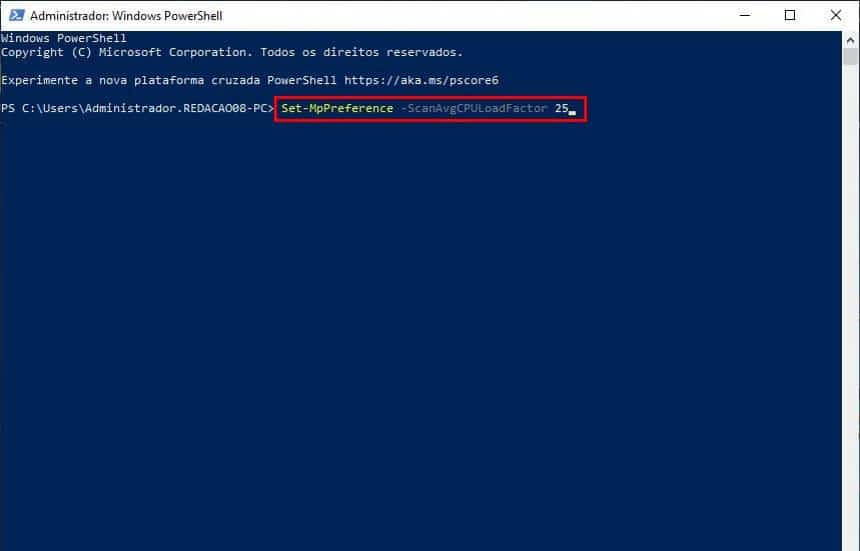 20191003131402 - Como diminuir o consumo de CPU do Windows Defender