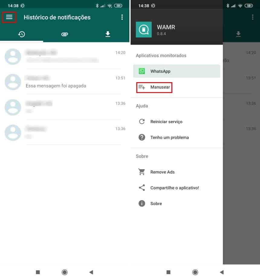 20191028153311 - Como recuperar mensagens apagadas no WhatsApp com o WAMR